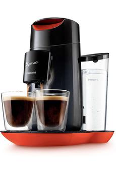 Cafetière à dosette SENSEO HD7870/31 TWIST NOIR ET ROUGE Philips