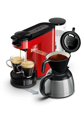 Cafetière à dosette ou capsule SENSEO SWITCH HD7892/81 ROUGE Philips