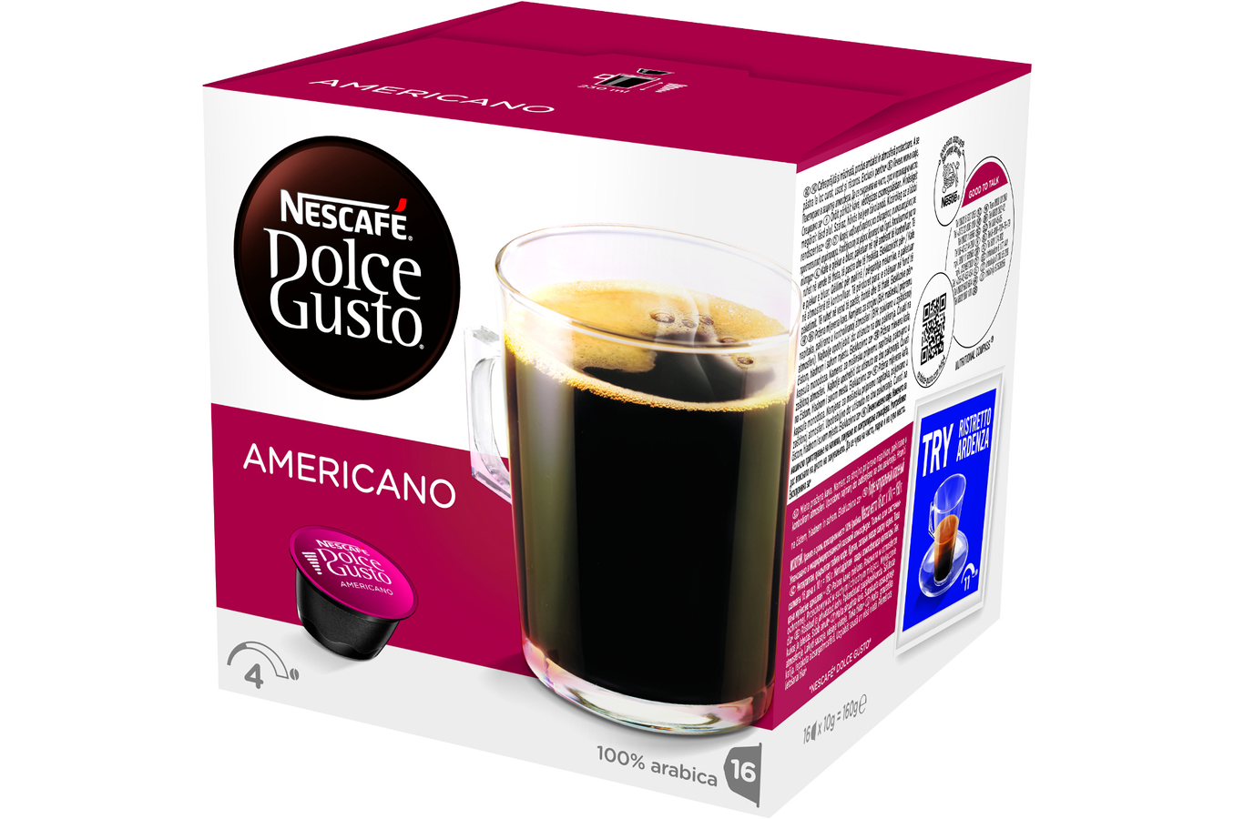 capsule caf dolce gusto espresso americano americano 4042417 darty. Black Bedroom Furniture Sets. Home Design Ideas