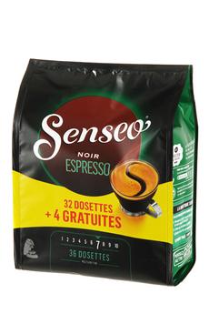 Dosette café NOIR ESPRESSO 32+4 Senseo