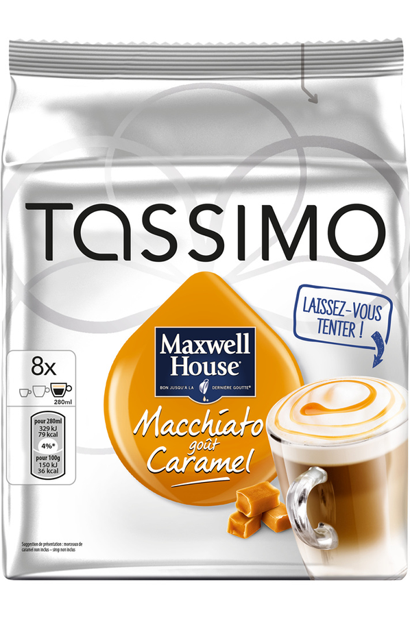 dosette caf tassimo dosettes macchiato caramel 4242521 darty. Black Bedroom Furniture Sets. Home Design Ideas