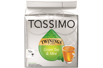 Dosette café DOSETTES TWININGS THE VERT Tassimo