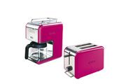 Kenwood grille pain + cafetière kmix electro pink