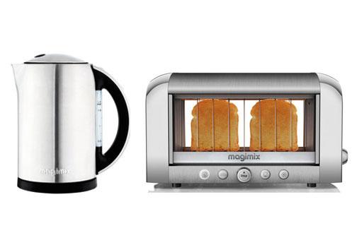 ensemble petit d jeuner magimix bouilloire grille pain vision inox 3778916. Black Bedroom Furniture Sets. Home Design Ideas