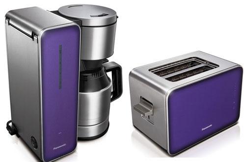 Ensemble petit déjeuner grille pain + cafetière violet Panasonic
