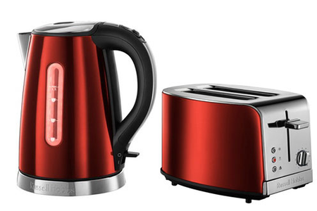 Ensemble petit d jeuner russell hobbs bouilloire grille pain jewels rubis darty - Russell hobbs grille pain ...