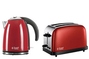Russell Hobbs bouilloire + grille pain rouge flamboyant