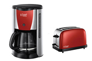 Russell Hobbs grille pain + cafetière rouge flamboyant
