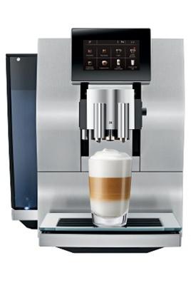 Pression 15 bars - Café en grains ou moulu 21 spécialités café et lait - Cartouche filtrante CLARIS Programmes de nettoyage : rinçage et détartrage automatique Application Jura Coffee disponible
