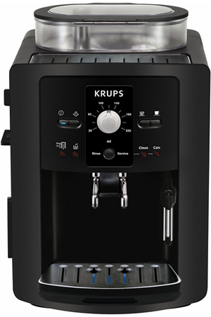 expresso avec broyeur krups ea8000pn full auto compact manuel noir ea8000pn espresso full darty. Black Bedroom Furniture Sets. Home Design Ideas
