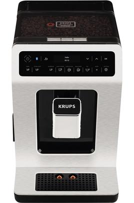"""Expresso avec broyeur connecté Possibilité de deux boissons en simultané Fonction """"Dark"""": le café encore plus intense Affichage OLED tactile"""