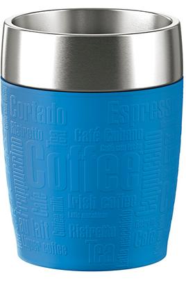 Mug isotherme Emsa TRAVEL CUP 0,2L INOX/BLEU D'EAU