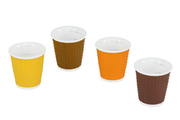 Les Artistes VERRI TASSES ORANGE JAUNE MARRON