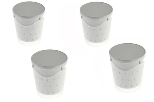 pot pour yaourti re lagrange pot faisselle x4 1238272. Black Bedroom Furniture Sets. Home Design Ideas