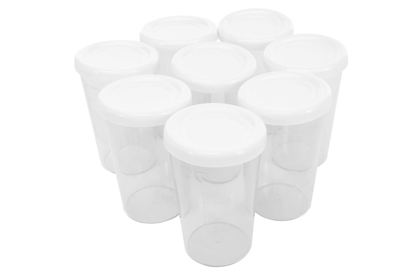pot pour yaourti re orva pots plastique x8 1234412 darty. Black Bedroom Furniture Sets. Home Design Ideas