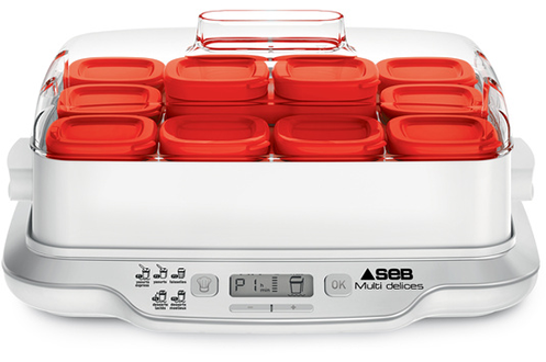 Seb YAOURTIERE YG661500 MULTIDELICES EXPRESS 12 POTS ROUGE
