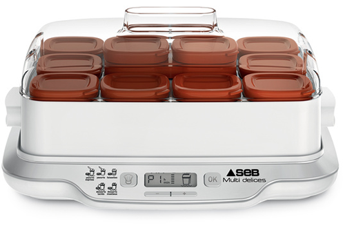 Seb YAOURTIERE MULTIDELICES EXPRESS YG661A00 12 POTS MARRON
