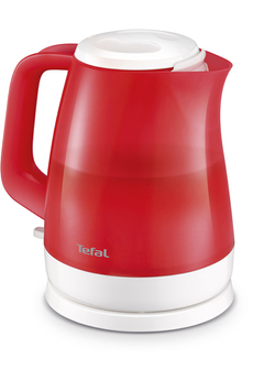 Bouilloire KO151510 Delfini Look Rouge Transparente Tefal