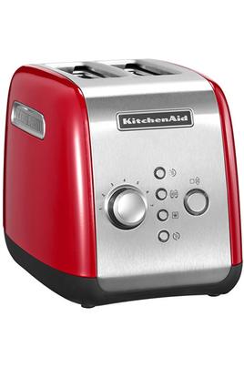 Toaster 2 fentes - Puissance 1100 Watts Enclenchement par bouton poussoir Fonctions décongélation et petits pains ronds Maintien au chaud : 3 minutes