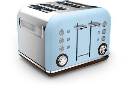 grille pain morphy richards m242100ee accents pop bleu azur m242100 ee bleu darty. Black Bedroom Furniture Sets. Home Design Ideas