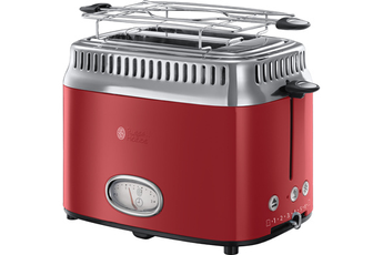 Grille pain RETRO 21680-56 Rouge Ruban Intense Russell Hobbs