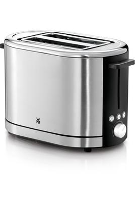 Toaster 2 fentes - Puissance 900 Watts Thermostat 7 positions réglables Fonctions : Réchauffage, Décongélation, Arrêt Système de centrage automatique - Support viennoisserie inclus