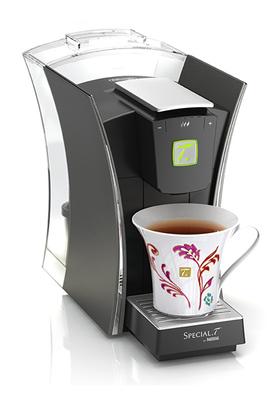 Théière à capsules - Capacité 1,3 litres Système de reconnaissance de la capsule Fonction My Tea : pour personnaliser votre thé selon vos goûts Inclus : 10 capsules Spécial T. + une tasse décorée