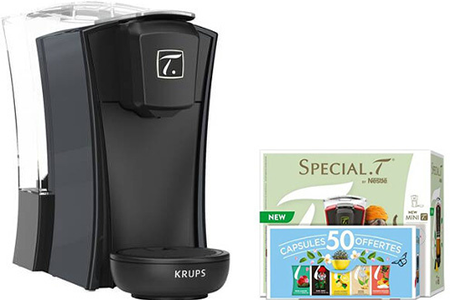 Theiere Krups Yy4327fd Bundle Special T Nestle Mini T Noire Et Coffret 50 Capsules Yy4327fd Darty