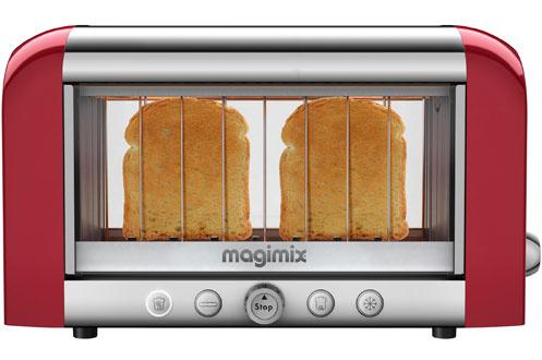 grille pain magimix 11528 vision rouge 3321525. Black Bedroom Furniture Sets. Home Design Ideas