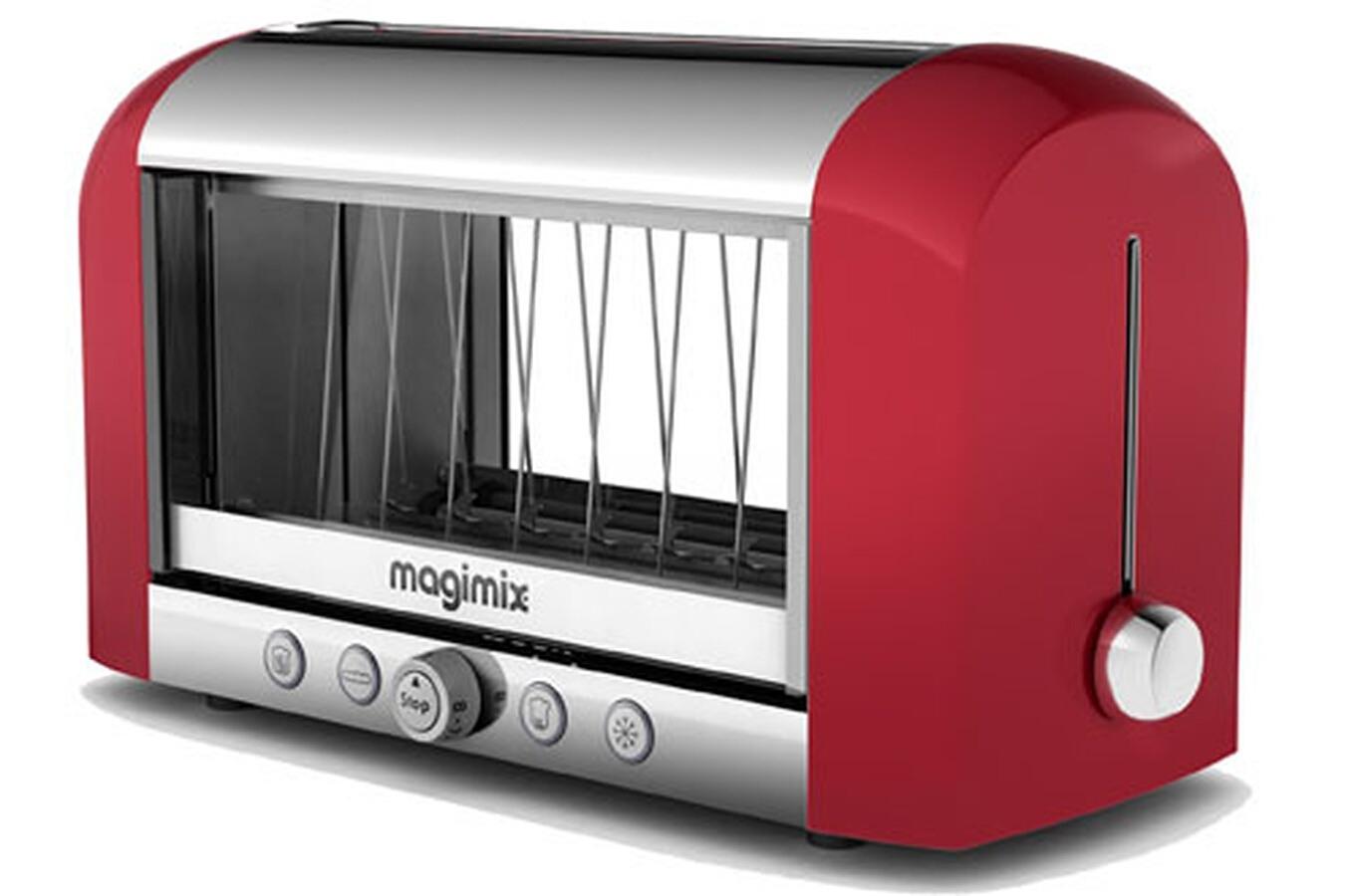 grille pain magimix 11528 vision rouge 3321525 darty. Black Bedroom Furniture Sets. Home Design Ideas