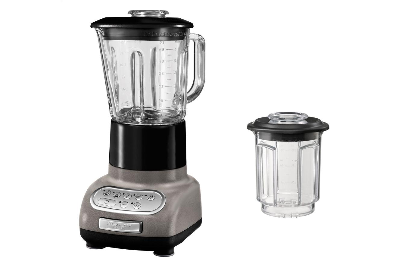 nav achat petit electromenager preparation culinaire bol mixeur blender kitchenaid ksbems gris etain
