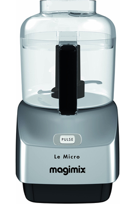 3 fonctions : hacher, mixer et émulsionner Capacité 0,8 litre - Touche Pulse Couvercle avec double ouverture : solides et liquides Livre de 45 recettes