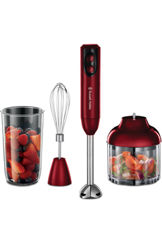 Pied mixeur 18986-56 ARGENT ROUGE Russell Hobbs