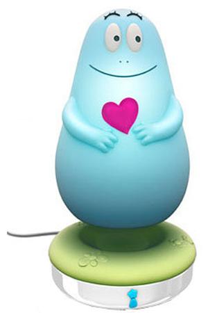 Pabobo Veilleuse Lumilove Barbapapa Chargeur Induction Bleu