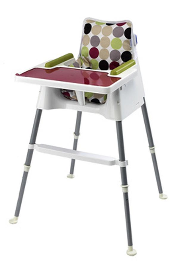 chaise haute beaba chaise cube blanc prune 3092119 darty. Black Bedroom Furniture Sets. Home Design Ideas