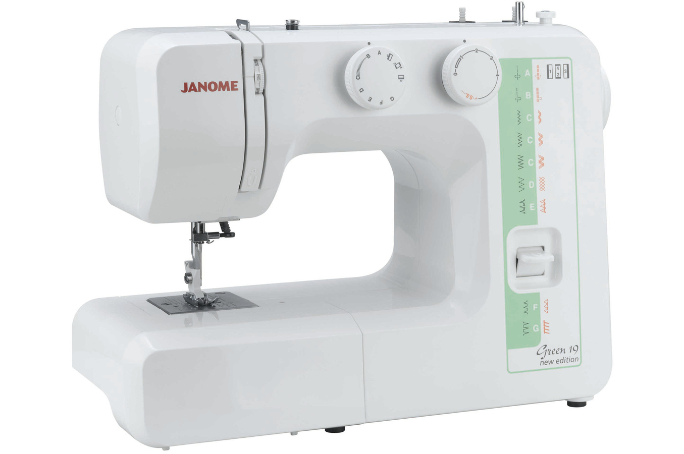 machine a coudre janome green 19 new edition 4030982 darty