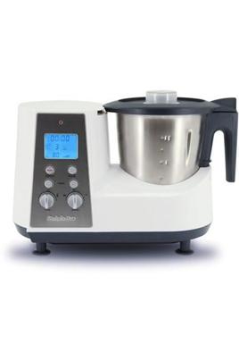 Robot cuiseur multifonction - Bol inox 2 litres 10 vitesses + fonction pulse - Ecran LCD Panier de cuisson, plateau vapeur, couteau et spatule Livre de recettes