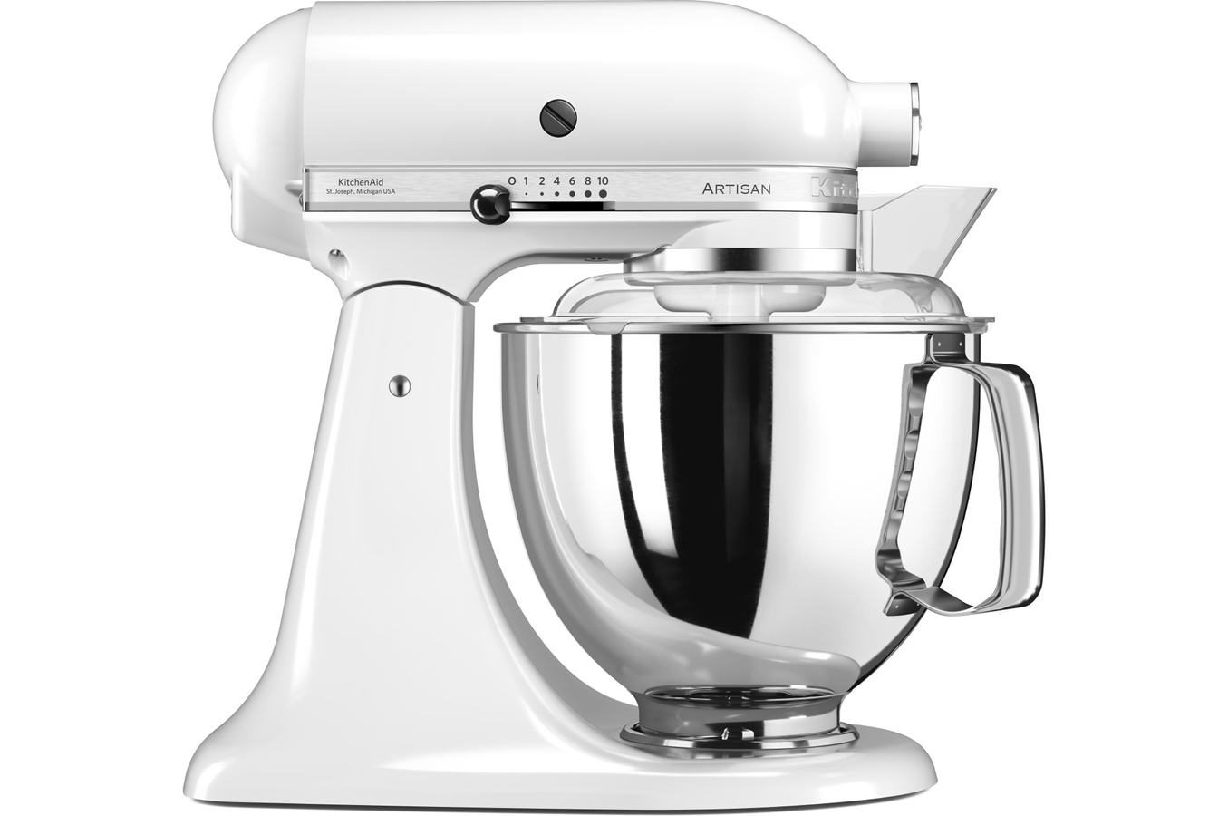 robot patissier kitchenaid artisan elegance 5ksm175psewh blanc 4252756 darty. Black Bedroom Furniture Sets. Home Design Ideas
