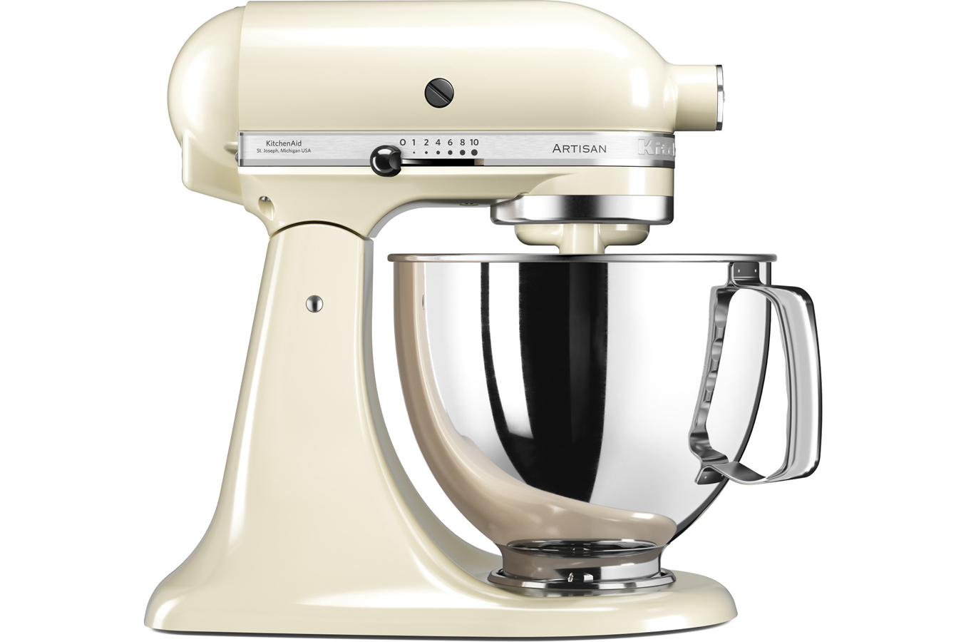robot patissier kitchenaid artisan 5ksm125eac creme 4252713 darty. Black Bedroom Furniture Sets. Home Design Ideas