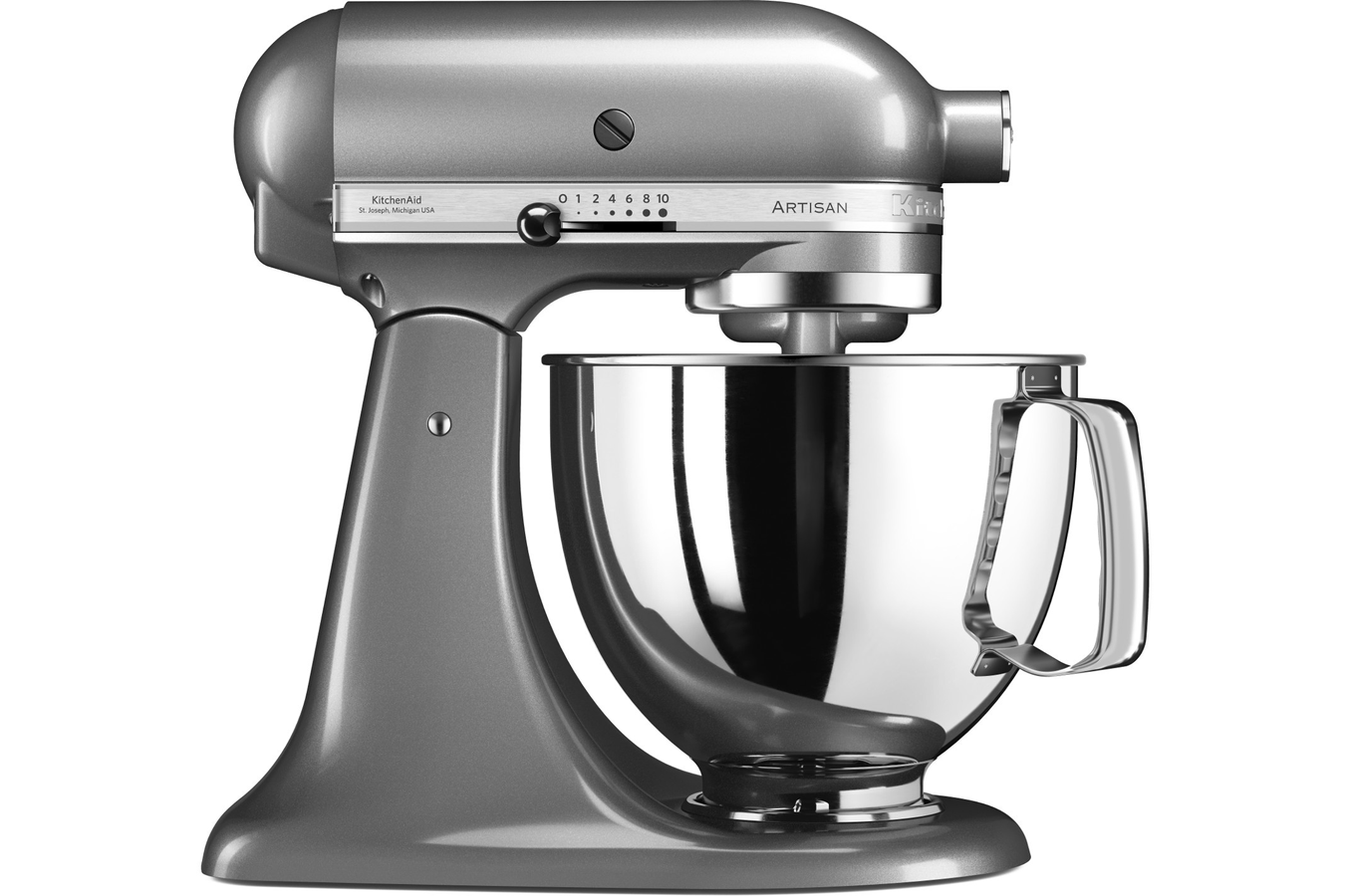 robot patissier kitchenaid artisan 5ksm125ecu gris argent 4252721 darty. Black Bedroom Furniture Sets. Home Design Ideas