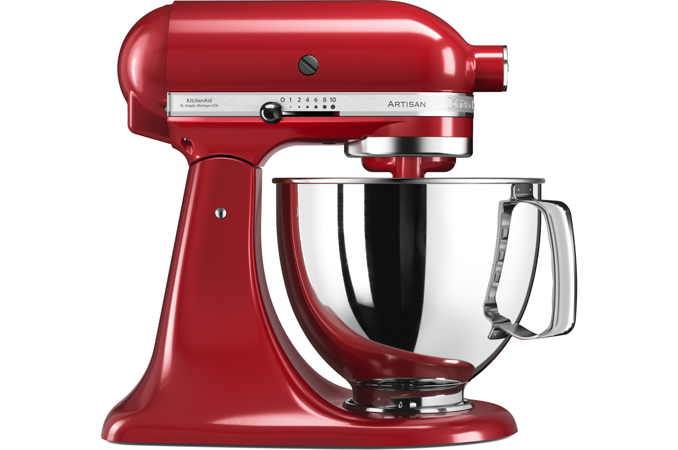 robot patissier kitchenaid artisan 5ksm125eer rouge empire 4252705 darty. Black Bedroom Furniture Sets. Home Design Ideas