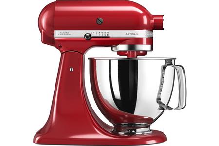 Robot patissier kitchenaid artisan 5ksm125eer rouge empire for Robot cuisine kitchenaid