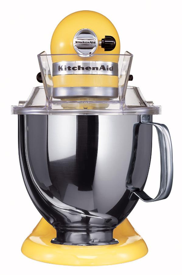 Robot patissier kitchenaid artisan jaune pastel 5ksm150 psemy 5ksm150 1580213 darty - Robot patissier fabrique en france ...