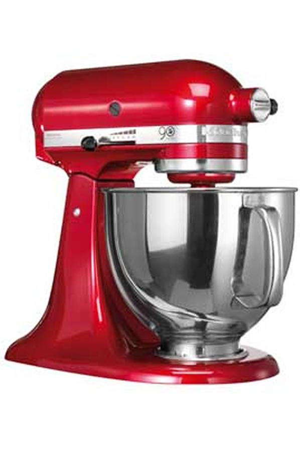 Pack robot multifonction kitchenaid 5 ksm156 rouge 90 ans for Robot cuisine kitchenaid