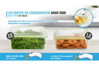 Film et sac alimentaire SEAL BOX 2 Conservair