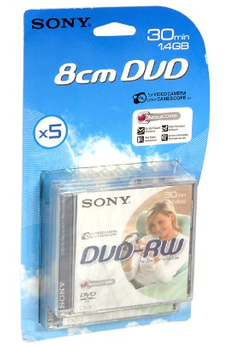 DVD 8 cm 5 DVD-RW 8 cm Sony
