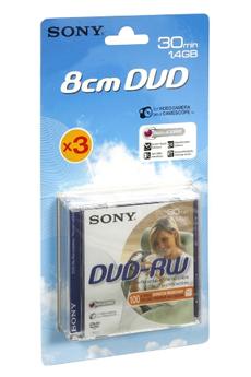 DVD 8 cm DVD-RW 30MN X3 Sony