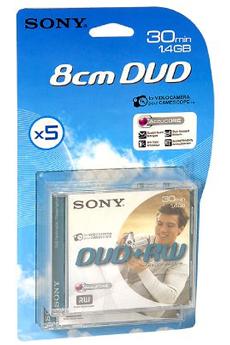 DVD 8 cm DVD+RW 8CM 30MN X5 Sony