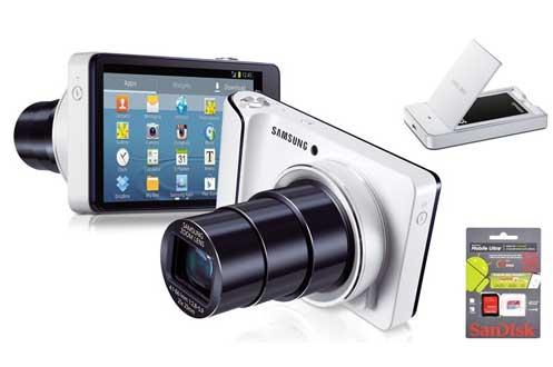 avis clients pour le produit samsung galaxy cam blanc wifi chargeur batterie. Black Bedroom Furniture Sets. Home Design Ideas