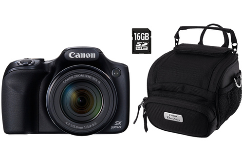 Appareil photo bridge POWERSHOT SX530 HS+HOUSSE+CARTE SD 16GO Canon
